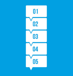 Five steps infographic icon white vector