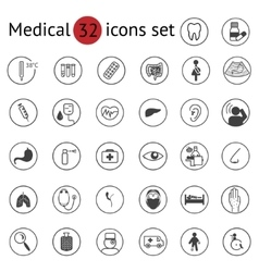 Flat medical icons set vector image vector image