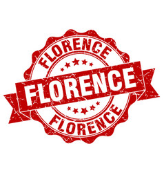 Florence round ribbon seal vector