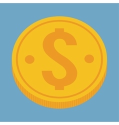 Gold coin of money concept vector