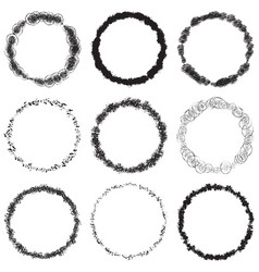 grunge rings big set vector image vector image