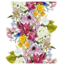 Hand drawn floral seamless border vector