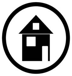 Home house black white icon vector