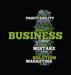Mistakes that reduce profitability text vector