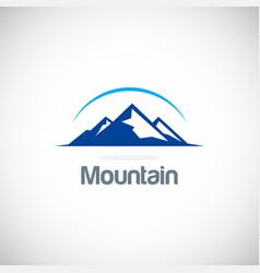 mountain icon logo vector image vector image