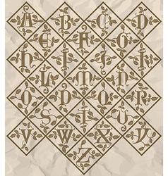 Ornamental letter alphabet - vintage vector