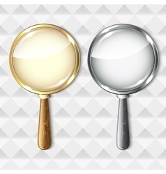 Pair of magnifying glasses on abstract background vector image vector image