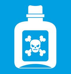 Poison icon white vector