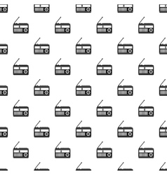 Radio receiver pattern simple style vector