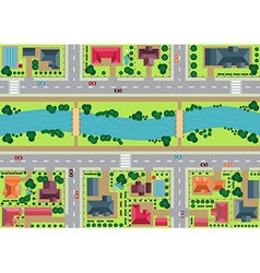 Riverside village view from top vector image