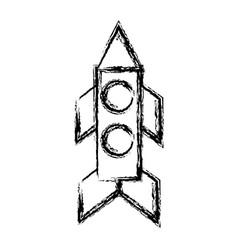 Rocket space icon vector