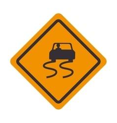 signal traffic slipery road design vector image vector image