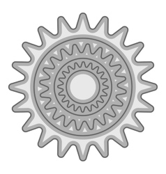 Sprocket for bicycle icon gray monochrome style vector