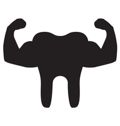 Strong Teeth Icon Black vector image vector image
