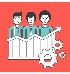 Successful development of business vector image vector image
