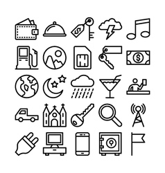 Summer and travel icons 7 vector