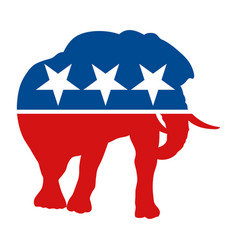 Symbol for the republican party in the us vector