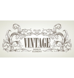 Vintage design elements Retro card vector image