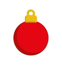 xmas decorative ball vector image