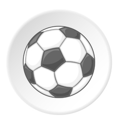 Soccer ball icon cartoon style vector image