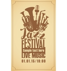 Poster for the jazz festival vector