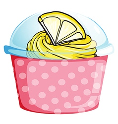 A pink disposable container vector