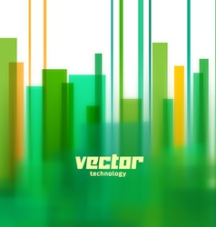 Background with green blurred lines vector