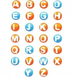3d alphabet script capitals vector image