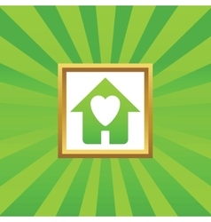 Beloved house picture icon vector