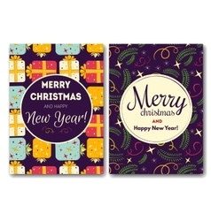 Holiday card with christmas vector