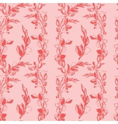Samless plant floral pattern abstract vector