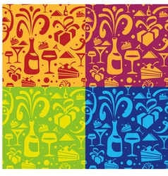 Holiday food seamless pattern vector