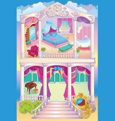 Fairytale luxury princess house vector