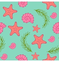 Seamless sea pattern Blue green background vector image