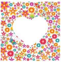 Floral heart vector