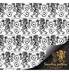 American Indian national seamless patterns vector image vector image