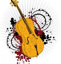 Artist violin vector