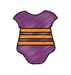 Baby clothes icon vector