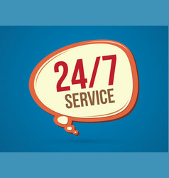 Balloon font 24 hours service icon graphic vector