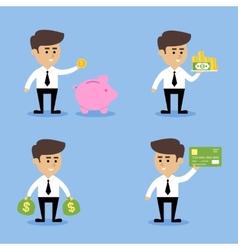 Businessman financial concepts vector image vector image