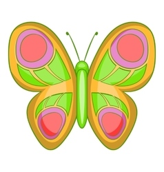 Butterfly with long wings icon cartoon style vector