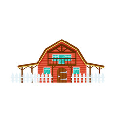 cattle farm building isolated icon vector image vector image