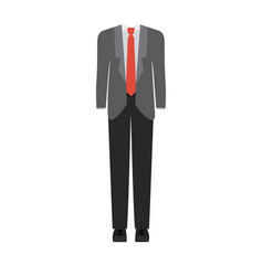 Colorful silhouette with male formal suit clothes vector