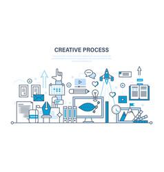 Creativity creative thinking planning process vector