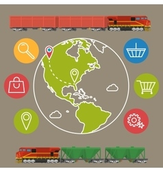 Delivery service concept background Logistics in vector image