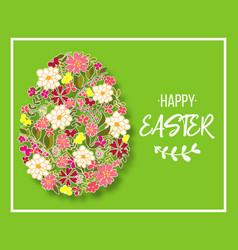 easter egg decorated with different floral vector image vector image