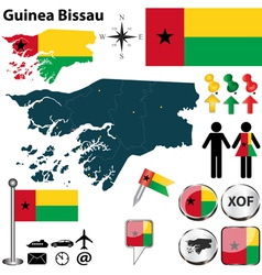 Guinea Bissau map vector image vector image