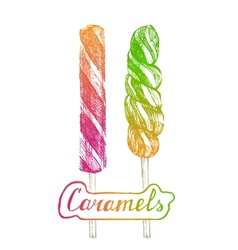 hand drawn lollipops vector image vector image