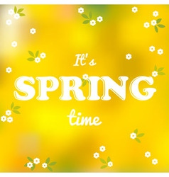 It is spring time words vector