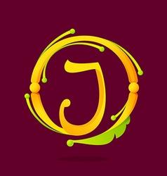 J letter monogram design elements vector image vector image